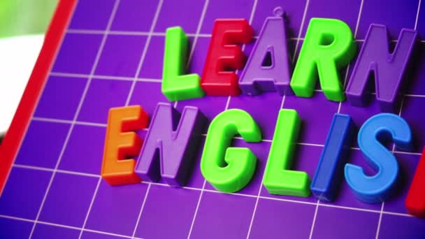 learn english language alphabet on magnets letters