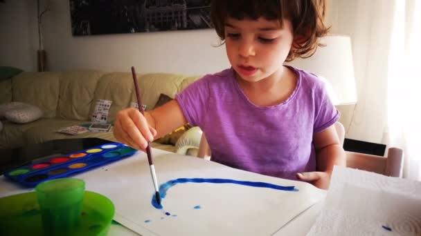 Baby Kind Aquarell Malerei Pinsel Farbpalette