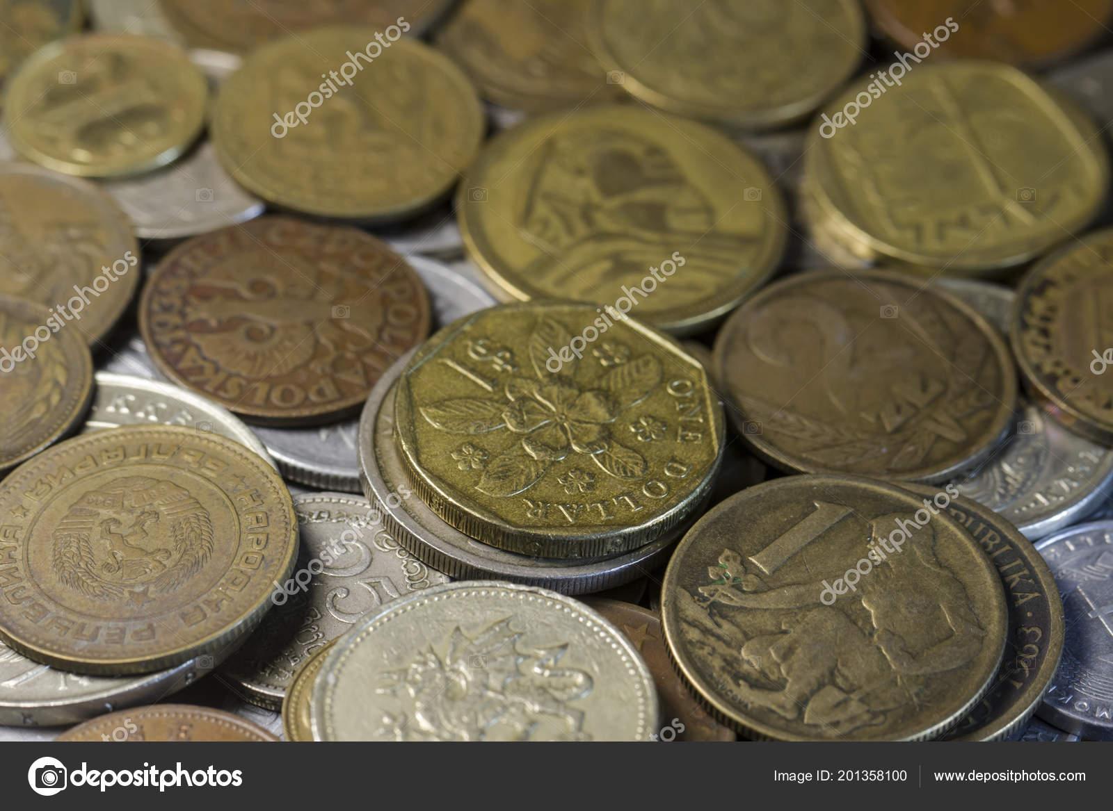 Münzen Der Verschiedenen Länder Der Welt Singapur Dollar Stockfoto