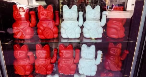 Maneki neko známé také jako čínské štěstí kočka