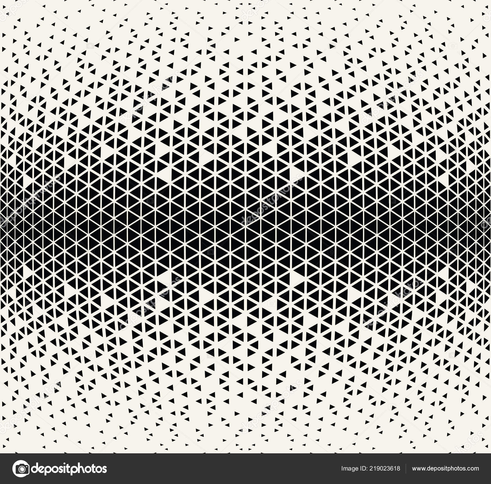 Abstract Seamless Geometric Triangle Pattern Vector