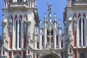Fragment of St. Nicholas Roman Catholic Cathedral (House of Organ Music) in Kyiv, Ukraine