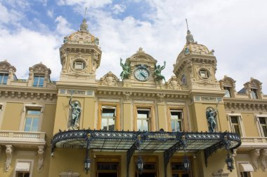 Monaco, Monte-Carlo - June 22, 2018: Fragment of Casino Monte-Carlo in Monaco
