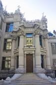 Kiev, Ukraine - August 1, 2018: House with Chimeras is the most original creation of architect Vladislav Gorodetsky in Kiev