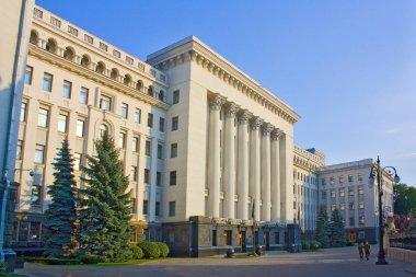 Kiev, Ukraine - August 1, 2018: Building of Presidential Administration of Ukraine in Kiev