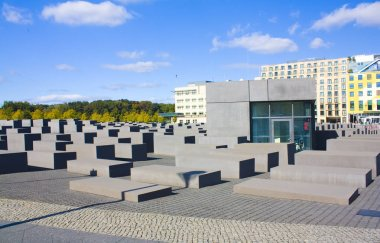 BERLIN, GERMANY - September 25, 2018: Memorial to the Murdered Jews of Europe in Berlin