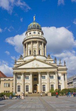 BERLIN, GERMANY - September 25, 2018: French cathedral on Gendarmenmarkt Square in Berlin