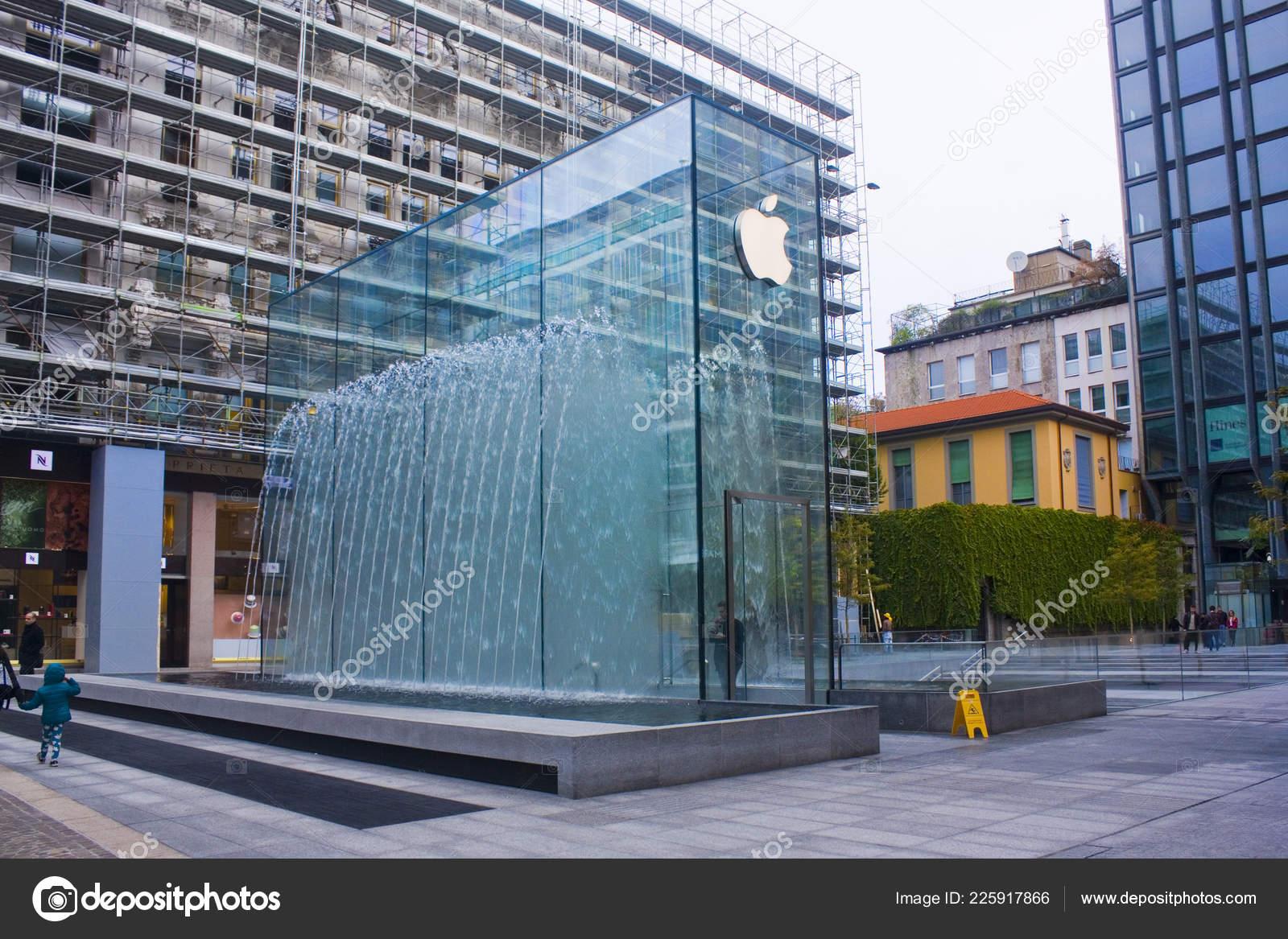 Folkekære Italien Mailand November 2018 Ungewöhnliche Glas Gebäude Des Apple JY-66