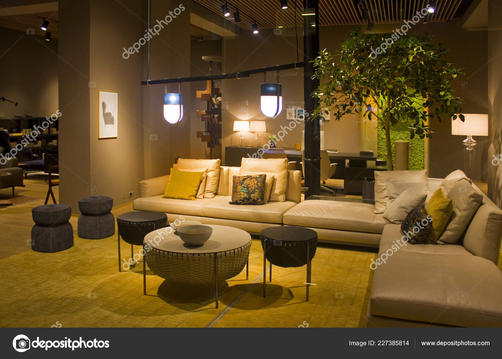 Italy Milan November 2018 Furniture Store Milan Stock Editorial