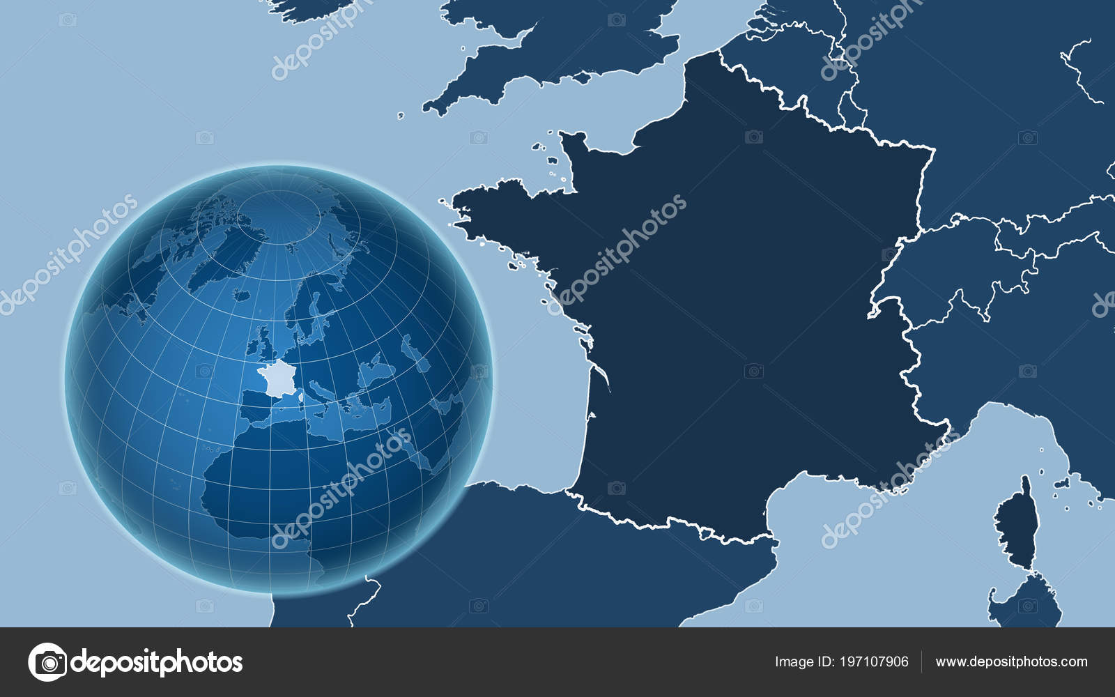 Map Of France Outline Only.France Globe Shape Country Zoomed Map Its Outline Shapes Only