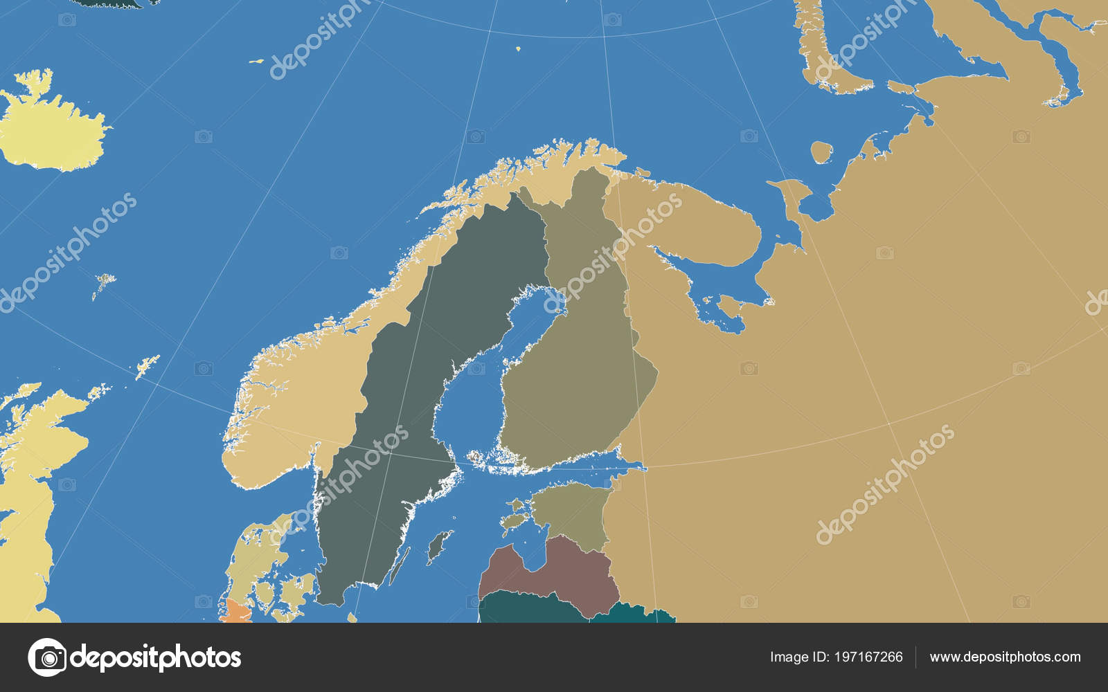 Finland its neighborhood distant oblique perspective outline color distant oblique perspective no outline color map of administrative divisions photo by yarr65 publicscrutiny Gallery