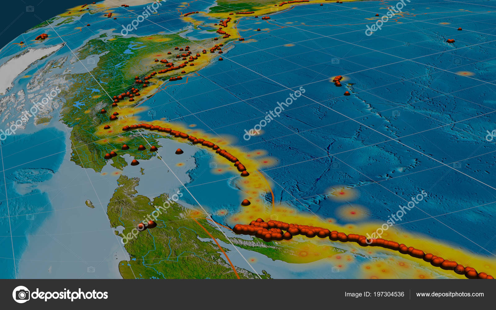 Earthquakes Volcanoes Distribution Pacific Ring Fire Global