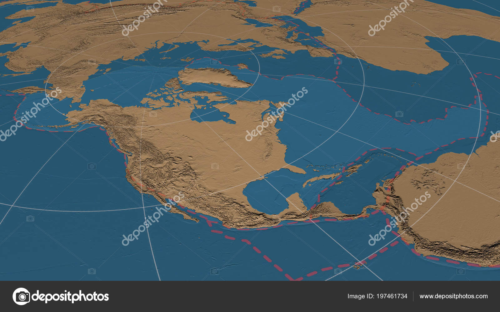 North American Tectonic Plate Enlarged Enlarged Global Grayscale ...