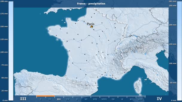 Precipitation month france area animated legend english labels precipitation by month in the france area with animated legend english labels country and capital names map description gumiabroncs Image collections