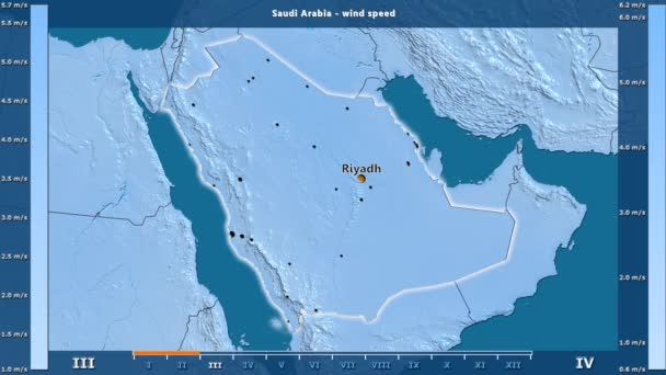 Wind Speed Month Saudi Arabia Area Animated Legend English Labels