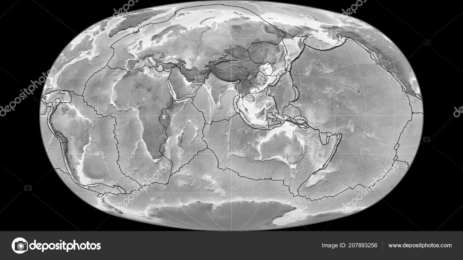 World map baranyi projection centered east longitude grayscale world map baranyi projection centered east longitude grayscale elevation map fotos de stock gumiabroncs Image collections