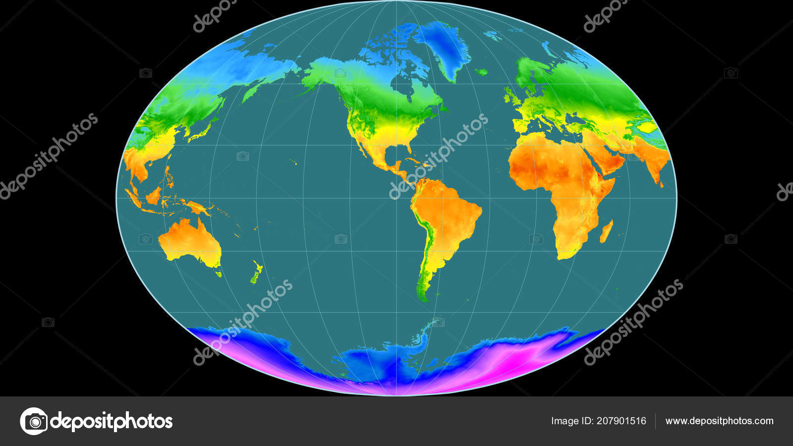 Mapa Sveta Fahey Projekce Zapadni Delky Prumerna Rocni Teplota