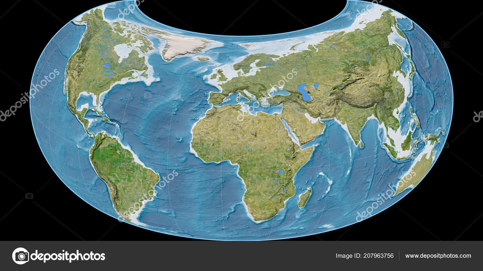 World map raisz armadillo projection centered east longitude world map raisz armadillo projection centered east longitude satellite imagery stock photo gumiabroncs Gallery
