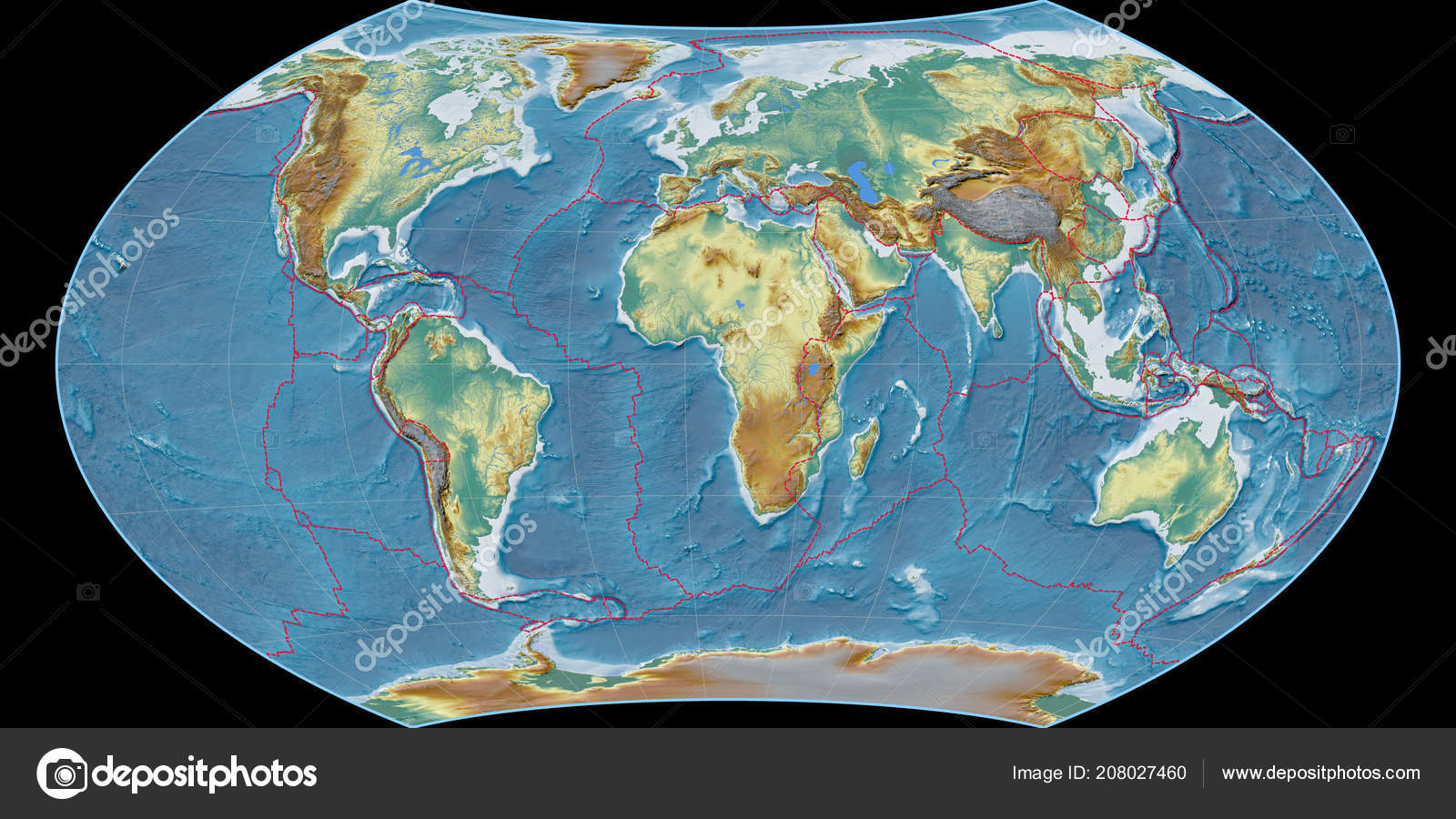 World map wagner viii projection centered east longitude topographic world map in the wagner viii projection centered on 11 east longitude topographic relief map composite of raster with graticule and tectonic plates gumiabroncs Choice Image