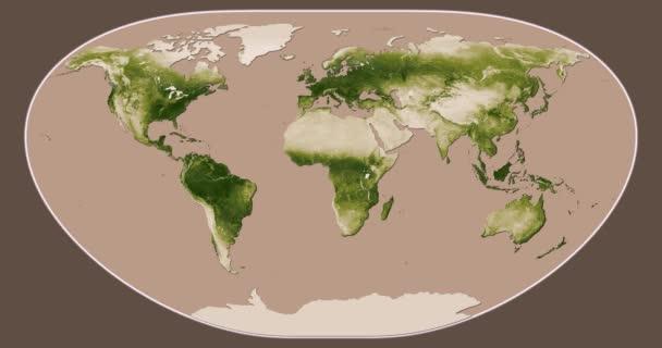 Vegetace: Sezónní změny (duben 2012 - duben 2013) projekce Loximuthal