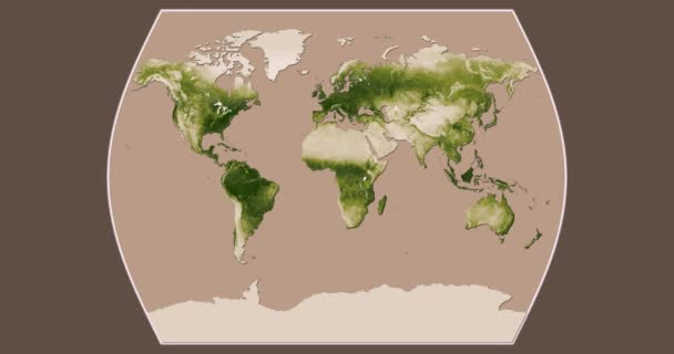 Vegetation: Seasonal Changes (Apr 2012 - Apr 2013) in the Times Atlas projection