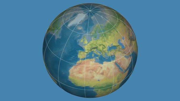 Zoom-in na Slovensku extrudované na celém světě. Kapitál, administrativní hranice a nitkového kříže. Hlavní rysy fyziografickými