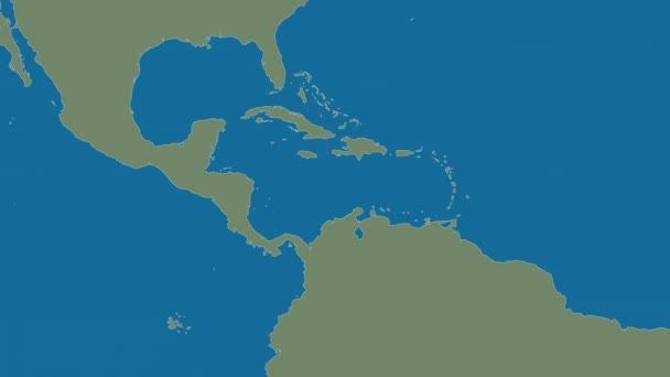 Caribbean Topographic Map.Caribbean Tectonic Plate Shape Animated Topographic Map Van Der