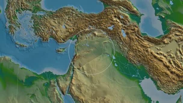 Provincie Sýrie Al Hasakah. Fyzické