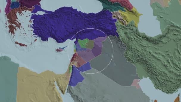 Provincie Sýrie Al Hasakah. Správní