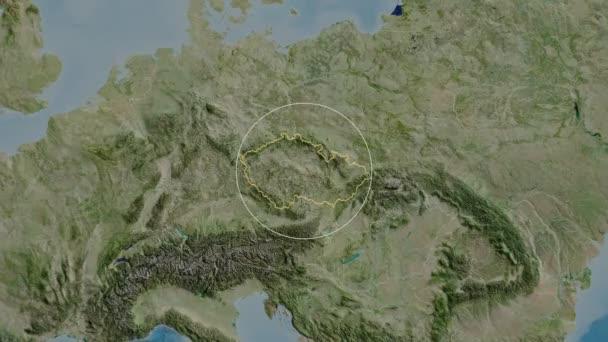 Jihomoravskij-region České republiky. Satelitní