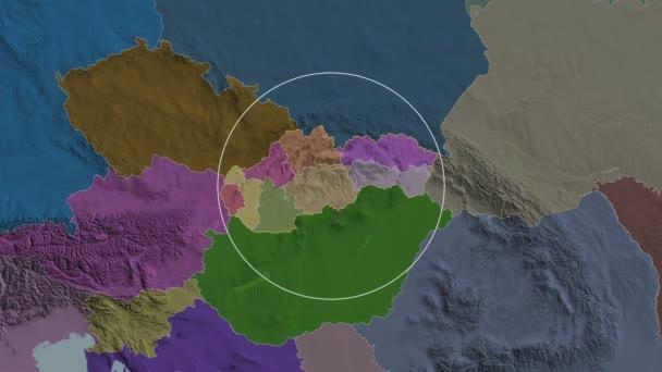 Nitriansky - region of Slovakia. Administrative