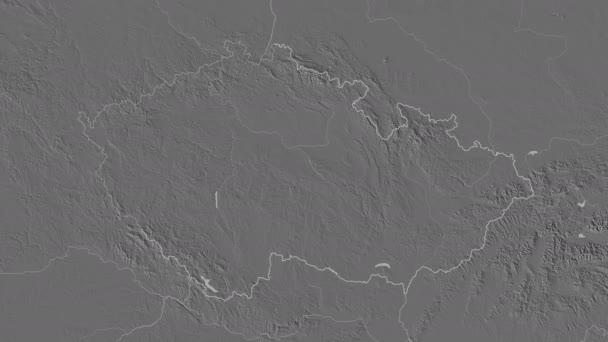 Karlovarskij se vyprostil. Česká republika. Stereografická mapa úrovně
