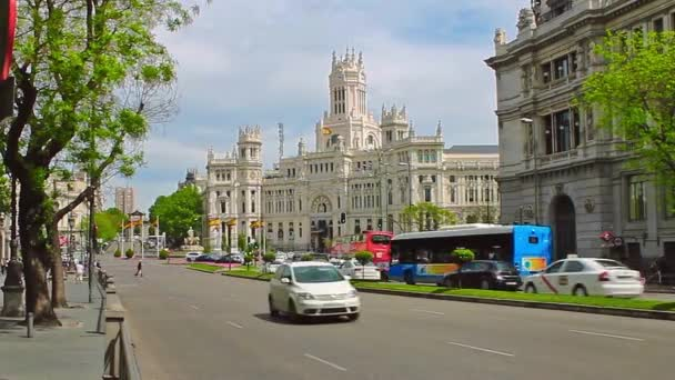Madrid, Spain - April 2018: Plaza de Cibeles Madrid Spain. Palacio De Comunicaciones