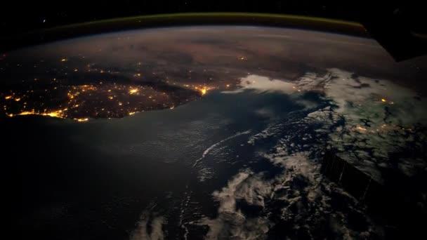 Dünya üzerinde bir uçuş'ın yüzey, bir uzay istasyonundan alınan.