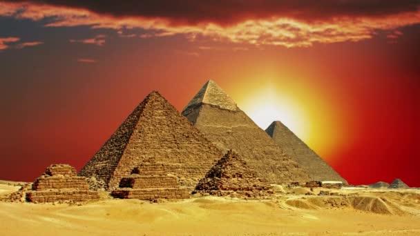 Ancient Egyptian pyramids, symbol of Egypt.
