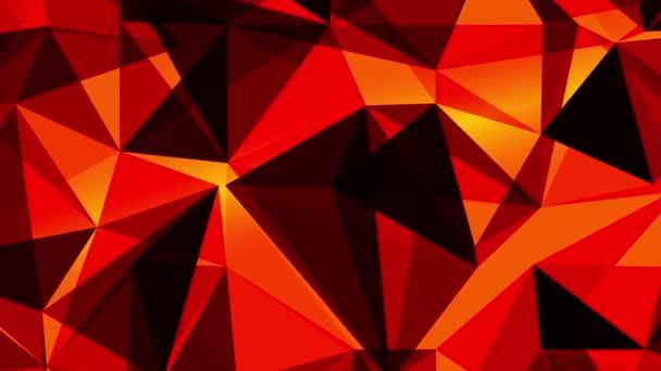 Abstraktní 3d pozadí: geometrické plochy v pohybu. Makro abstraktní animace ve stylu Plexus