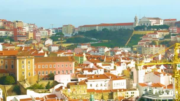 Ancient architecture of Lisbon, Portugal, cityscape, city views.