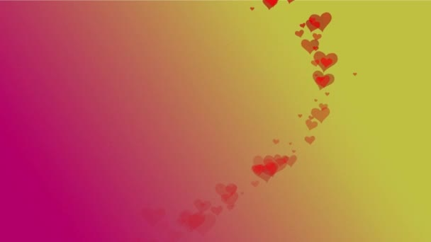 Glowing red heart from particles on a bright background