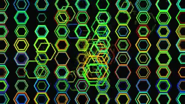 Geometrické pozadí abstraktní 3d. Geometrické povrch v pohybu.