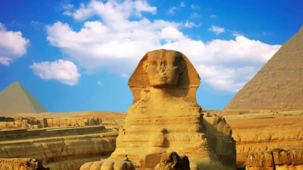 Ancient sphinx and pyramids, symbol of Egypt
