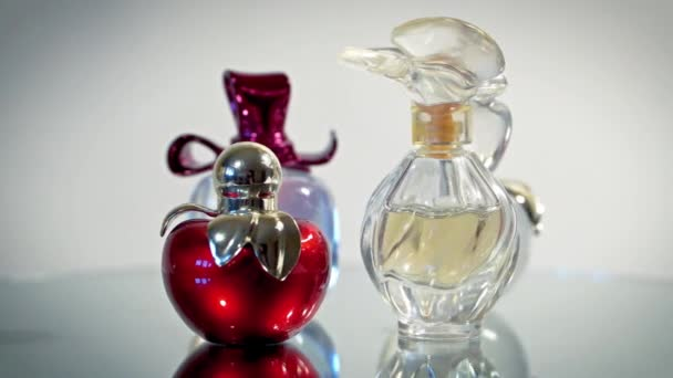 Beautiful modern glass bottles for womens perfume.
