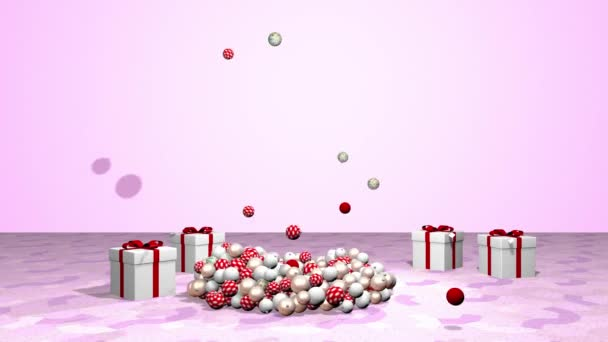 Krásný animovaný vánoční stromek. prostorové vykreslování