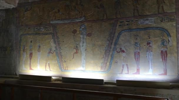 Luxor, Egypt - January 2020: tourists visiting the tomb KV14, the tomb of the Egyptian pharaoh Tausert and her successor Setnakhtu, Valley of the Kings