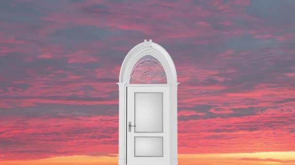 Metaphor. The door to the sky opens