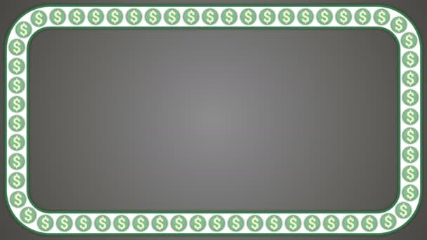 Dolar americký peníze šedé pozadí obdélníkový rámeček
