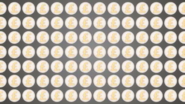 Britische Pfund England Geld Münzen Münzen Verkehr Horizontalen