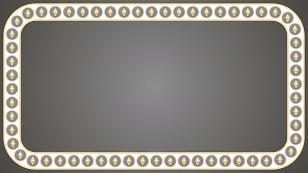Ethereum cryptocurrency szürke háttér téglalap határ keretű transzparens