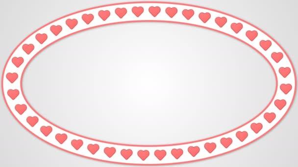 Krásné srdce romantické pozadí s animací bezešvé smyčka