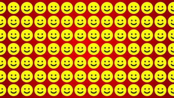 Smile happy červené žluté pozadí provoz horizontální