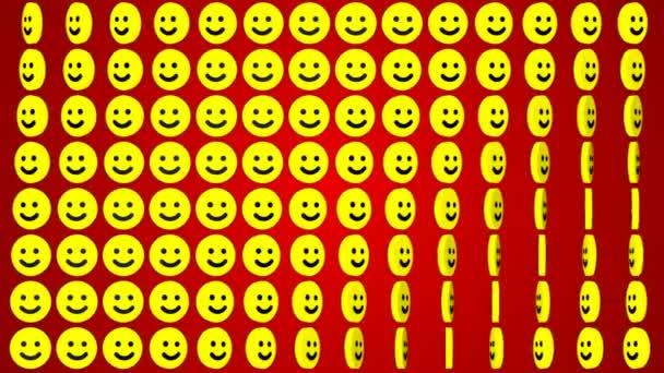 Smile happy červené pozadí rotující úsměvy